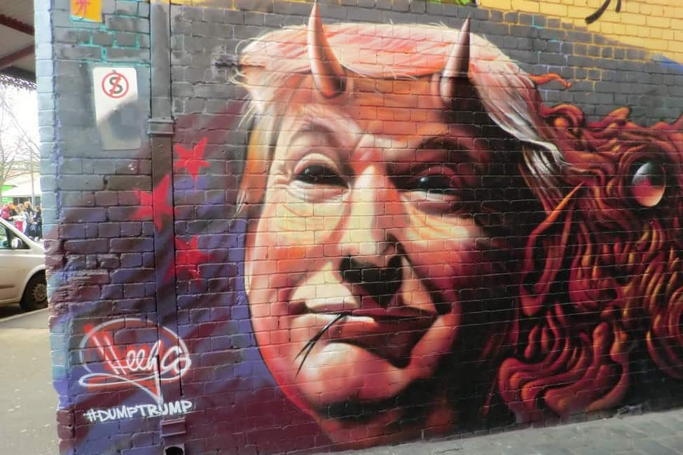 Graffiti de Donald Trump