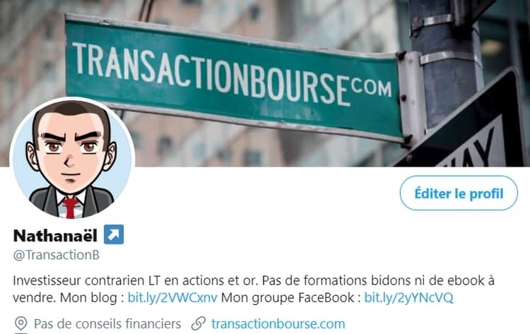Profil Twitter TransactionB